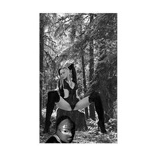 Domme in the woods. Rectangle Decal