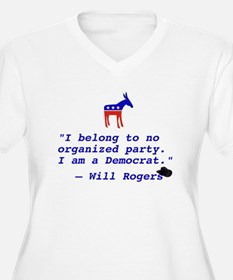 Will Rogers Democrat Quote T-Shirt