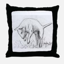 A Bull Terrier Throw Pillow