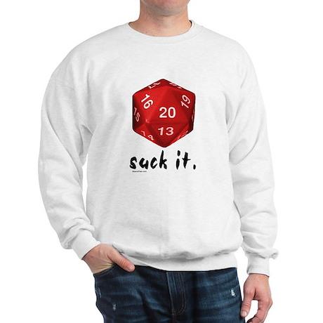 d20 Suck It Sweatshirt