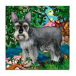 SCHNAUZER DOG PARADISE Tile Coaster