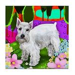 SCHNAUZER DOG LAKE Tile Coaster