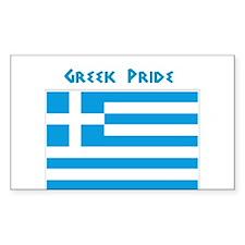 Greek Pride Rectangle Bumper Stickers