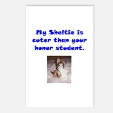 My Sheltie's Cuter 2 Postcards (Package of 8)
