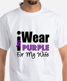 Purple Ribbon Wife Shirt