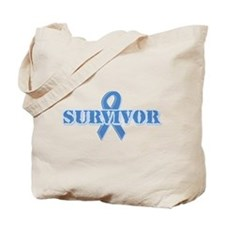 Light Blue Survivor Tote Bag