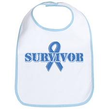 Light Blue Survivor Bib