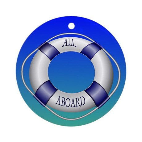 Smooth and Happy Sailing Ornament (Round)