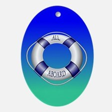 Smooth and Happy Sailing Oval Ornament