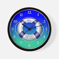 Smooth and Happy Sailing Wall Clock