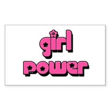 GIRL POWER Rectangle Stickers