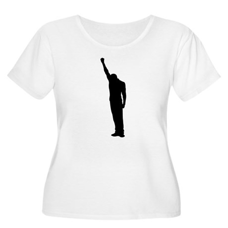 Black Power Fist Raised Women's Plus Size Scoop Ne