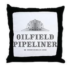 Oilfield Pipeliner Throw Pillow