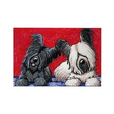 Skye Terrier Duo Rectangle Magnet (100 pack)