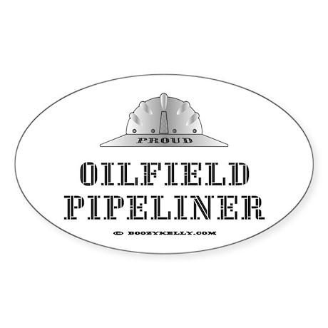 Oilfield Pipeliner Oval Sticker