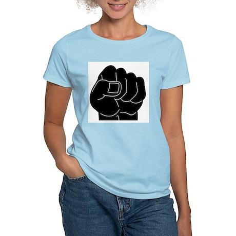 Black Power Fist Women's Light T-Shirt