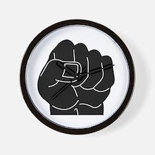 Black Power Fist Wall Clock