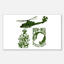 POW-MIA Green Rectangle Decal