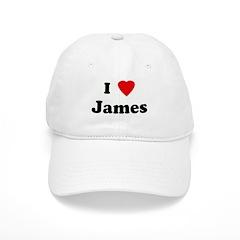I Love James Baseball Cap