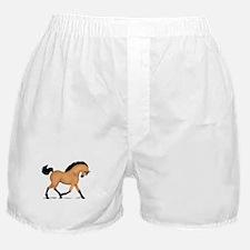 Trotting Buckskin Horse Boxer Shorts
