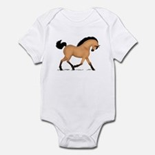 Trotting Buckskin Horse Infant Bodysuit