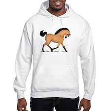 Trotting Buckskin Horse Hoodie