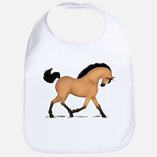 Trotting Buckskin Horse Bib