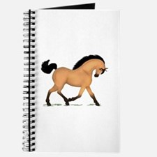 Trotting Buckskin Horse Journal