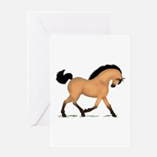Trotting Buckskin Horse Greeting Card