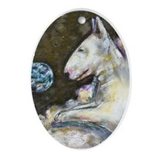 """BT Heaven"" a Bull Terrier Oval Ornament"