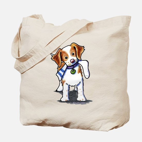 Playful Brittany Spaniel Tote Bag
