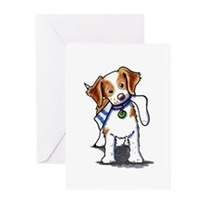 Playful Brittany Spaniel Greeting Cards (Pk of 10)