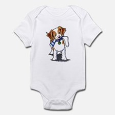 Playful Brittany Spaniel Infant Bodysuit