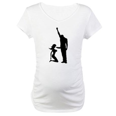 Black Power Female Kneels and Maternity T-Shirt