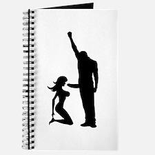 Black Power Female Kneels and Journal