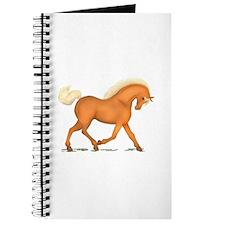 Bright Gold Palomino Horse Journal