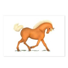 Bright Gold Palomino Horse Postcards (Package of 8
