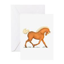 Bright Gold Palomino Horse Greeting Card