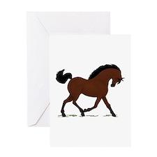 Dark Bay Horse Pony Greeting Card