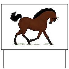 Dark Bay Horse Pony Yard Sign