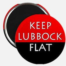 Keep Lubbock Flat - TTU Magnets