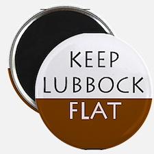 Keep Lubbock Flat - Brown Magnets