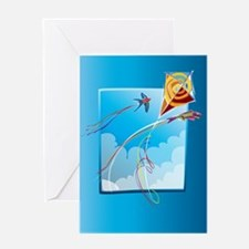 Kite Tails Greeting Card