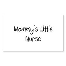 Mommy's Little Nurse Rectangle Decal