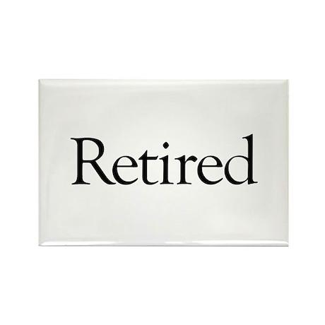Retired Rectangle Magnet (100 pack)