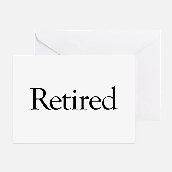 Retired Greeting Card