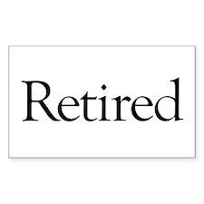 Retired Rectangle Sticker 50 pk)