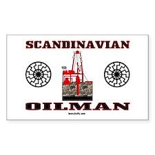 Scandinavian Oilman Rectangle Bumper Stickers