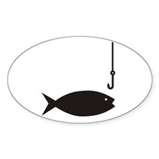 Fishing Sign Oval Decal