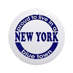 New York: Blue Town Holiday Ornament